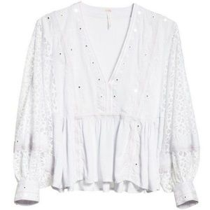 NWT Free People Boogie All Night Blouse